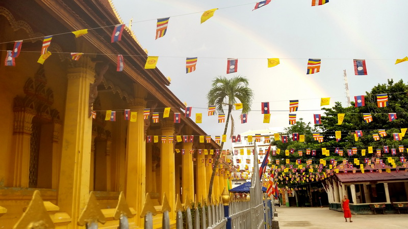 Rainbow Over Vientiane