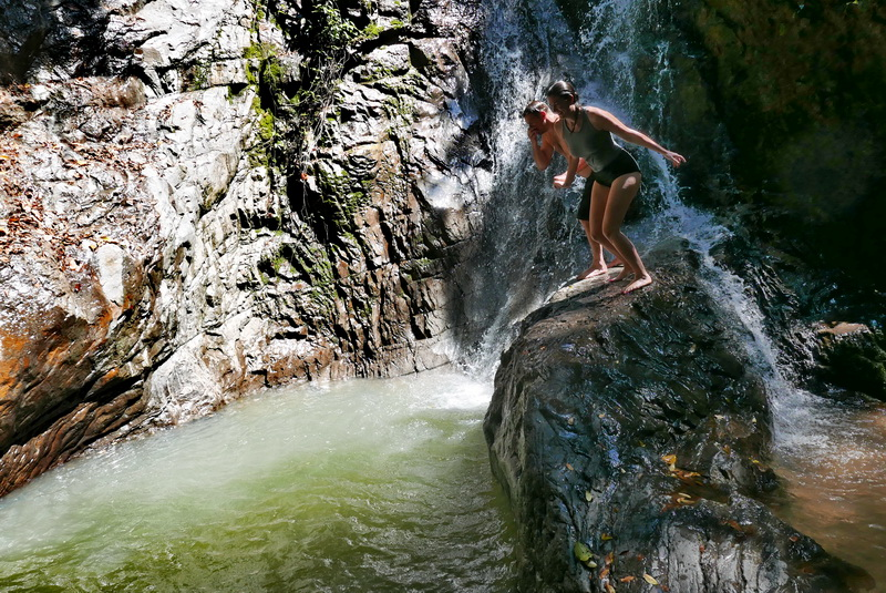 A Second Before Jump @ Khun Si Waterfall